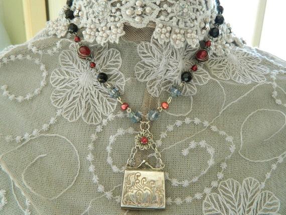 10% Locket Assemblage Necklace Sterling Silver