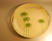 "Japanese Vintage Plates - ""Noritake"" palm tree design"