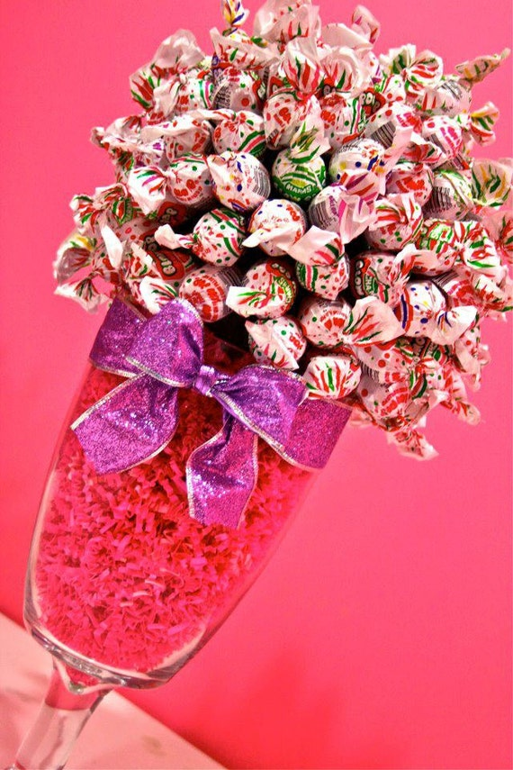 Blow pop lollipop sucker candy land centerpiece vase