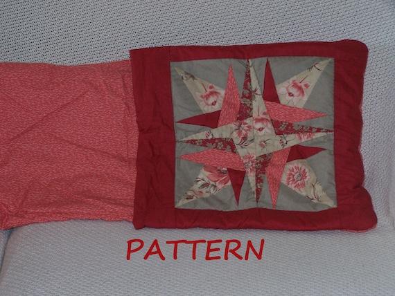 Quilt Pillow Pattern. Star Quillow PDF 017.