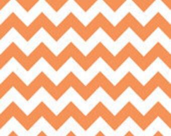 New: Riley Blake Designs Chevron Fabric by Riley Blake, Chevron in Orange,  1 yard cut