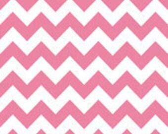 Medium Chevron in Hot Pink-  Riley Blake - Half yard