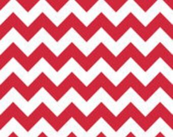 Red Medium Chevron Riley Blake: Half Yard Cut