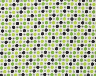 Flea Market Fancy by Denyse Schmidt, Flower & Dot Green- Spring Market Palette: One Yard Cut