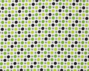 Flea Market Fancy by Denyse Schmidt, Flower & Dot Green, Spring Market Palette: 1/2 Yard Cut