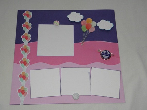 Ellie and Carl (inspired by Pixar's Up) a Disney-themed premade 12x12 scrapbook page