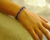 Purple and lavender amethyst stretch bracelet