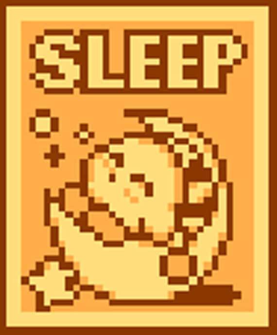 Kirby Sleep Cross Stitch Pattern