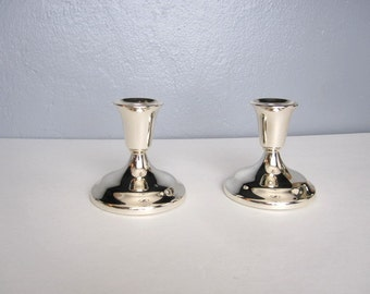 Brilliant Silver Plated Candle Sticks