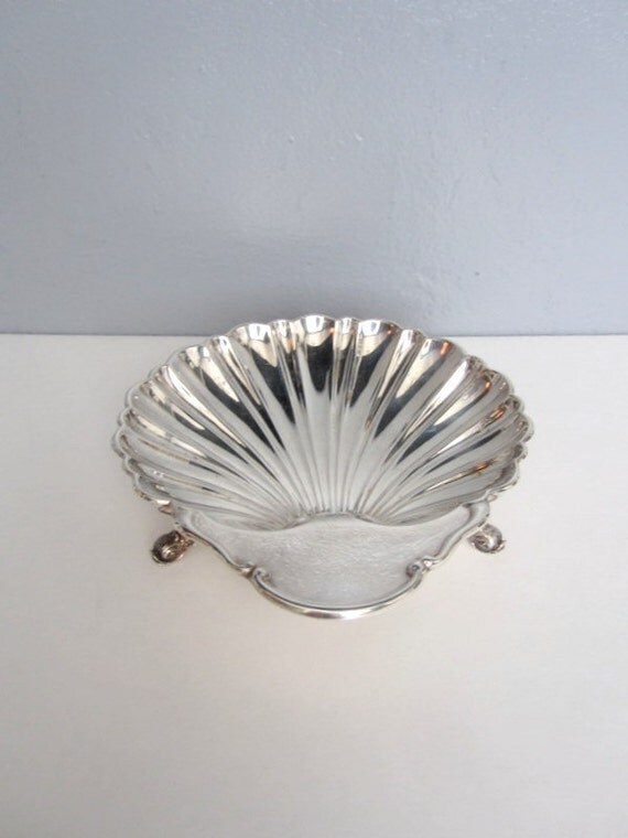Vintage Silver Shell Dish by Cresent