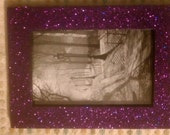 beautiful deep purple glitter picture frame