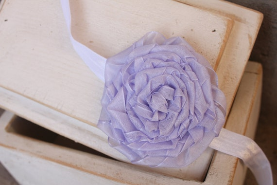 Beautifully simple lavender rosette hair accessory