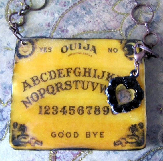 Ouija Board Pendant Necklace Polymer Clay and Resin