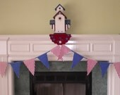 Fabric Bunting Banner-Red White and Blue