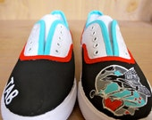 Women's Hand-Painted Custom Canvas Tennis Shoes