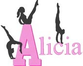 NEW Gymnastic Set 2 gym gymnast team Girl Embroidery Machine Designs with Monograms and fonts