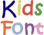 Kids Fonts Monogram Machine Embroidery Designs Alphabets Letters