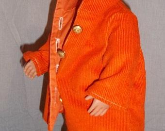 A walk in the Fall in bright orange
