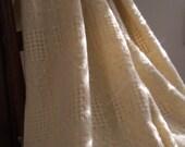 Handwoven wool blanket natural cream