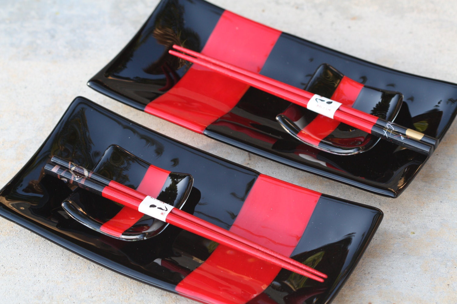 fused glass sushi for two set made to order. Black Bedroom Furniture Sets. Home Design Ideas