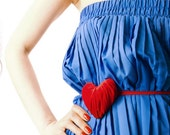 Spring. Red Velvet heart. Fashion accessory-transformer.