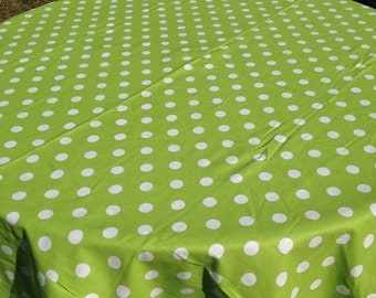 "60"" Round Candy Land with Large White Polka Dot Table Cloth Only"