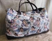 Tapestry Cherub Print Handbag.