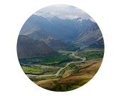 "Suru valley. 8""x10"" print of circular photograph on glossy paper. Nature photography. Perfect for wall decor."