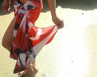 Hand Painted Silk Scarf/ Sarong - The Big Top