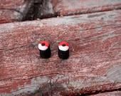 handmade polymer clay pokeball plugs 2g and up cute pokemon earrings