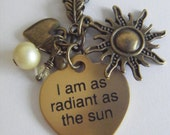 Hunger Games Katniss Radiant As The Sun Necklace I am not pretty I am not beautiful I am as radiant as the sun