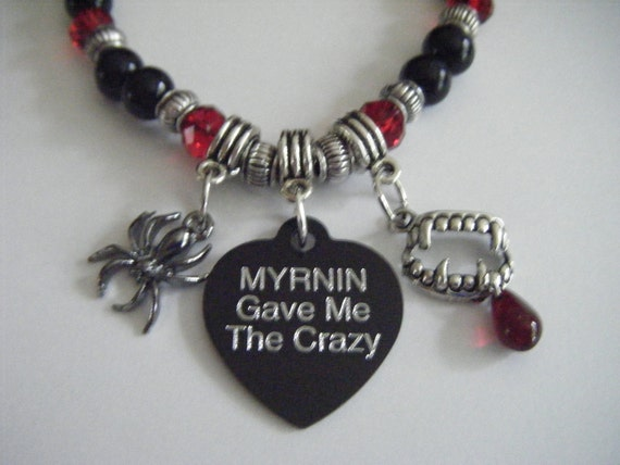The Morganville Vampires Myrnin Vampire Fangs Bob The Spider Bracelet