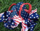 Stars and Stripes  toddler flip flops