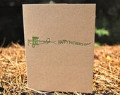 Happy Father's Day Letterpress Airplane Card