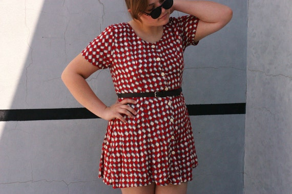 1970's Swing Dress Size L