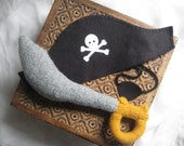 Pirate Sword ONLY, felted wool  stuffed toy