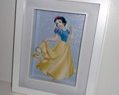 Snow White 3D Decoupage, Snow White Paper Tole,  Disney Princess,  Framed in Shadow Box, Altered Art