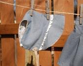Little grey bonnet - Lace trimed bonnet - OOAK