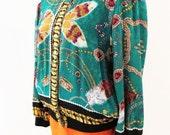Vintage Diane Fres Silk Print Jacket