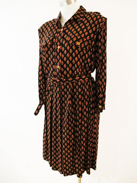 SALE Vintage Cute Pattern Print Dress, size XL