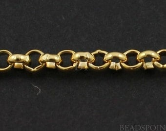 14k Gold Filled Small Rolo Chain, Heavy Weight Round 2 mm Circle Links, Bright Polished, (GF-R-3 )(100)