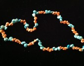 Turquoise & Terracotta Spiral Shell Necklace or Bracelet