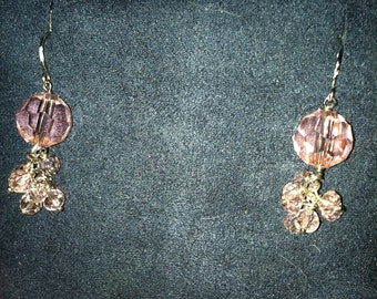 Sale 5 DOLLARS OFF Pretty in Pink Crystal Earrings