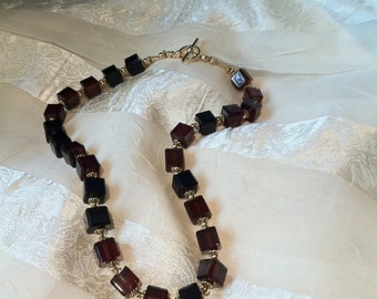 Dramatic Wine Box Necklace