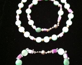 MOP Necklace Bracelets Set