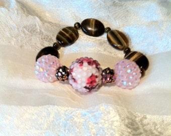 Bracelet Ode to an Old Pink & Brown Bathroom Bracelet