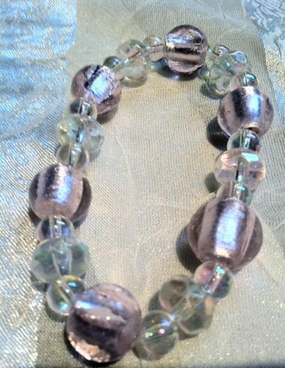 Shining Pink Dichroic Bracelet