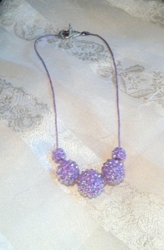 Happy Hydrangea Lilac Necklace