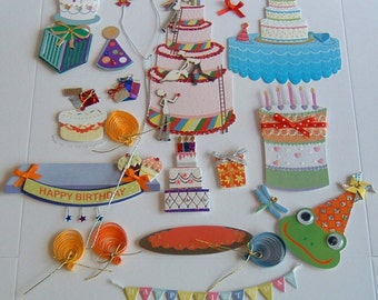 23 DECORATIONS FOR GREETING Cards Cakes Variety Pack