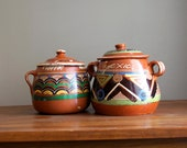 RESERVED for Nena - Vintage Mexican Bandera Ware Pottery 1940s